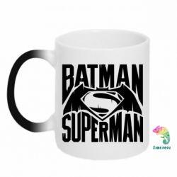 Кружка-хамелеон Бэтмен vs. Супермен - FatLine