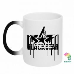 Кружка-хамелеон Black Star Logo - FatLine