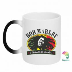 Кружка-хамелеон Bob Marley A Tribute To Freedom - FatLine