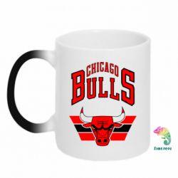 Кружка-хамелеон Большой логотип Chicago Bulls - FatLine