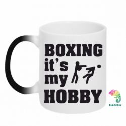 Кружка-хамелеон Boxing is my hobby - FatLine