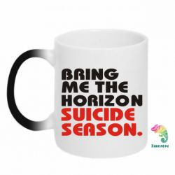 Кружка-хамелеон Bring me the horizon suicide season. - FatLine