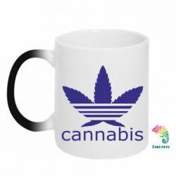 Кружка-хамелеон Cannabis - FatLine