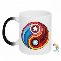 Кружка-хамелеон Captain America & Iron Man - FatLine