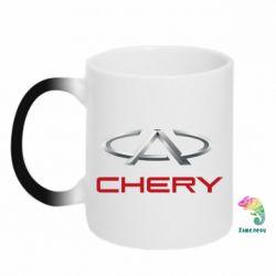Кружка-хамелеон Chery Logo - FatLine