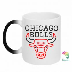 Кружка-хамелеон Chicago Bulls Logo - FatLine