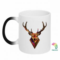 Кружка-хамелеон Colorful deer - FatLine