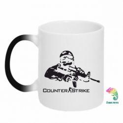 Кружка-хамелеон Counter Strike Player - FatLine