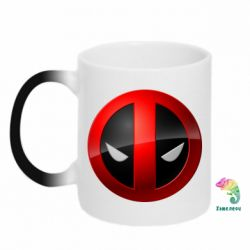 Кружка-хамелеон Deadpool Logo - FatLine