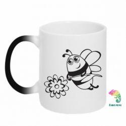 Кружка-хамелеон Добрая пчелка - FatLine