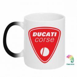Кружка-хамелеон Ducati Corse - FatLine