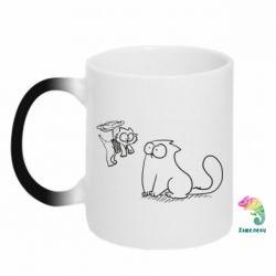 Кружка-хамелеон Два кота - FatLine