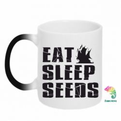 Кружка-хамелеон Eat Sleep Seeds (pirat bay) - FatLine