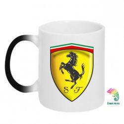 Кружка-хамелеон Ferrari 3D Logo - FatLine