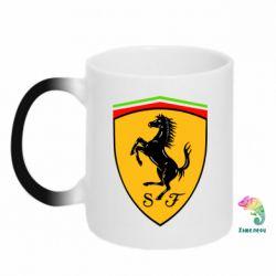 Кружка-хамелеон Ferrari - FatLine