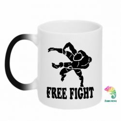 Кружка-хамелеон Free Fight - FatLine