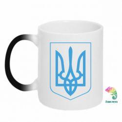 Кружка-хамелеон Герб України з рамкою - FatLine