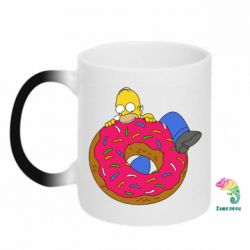 Кружка-хамелеон Гомер и Пончик - FatLine