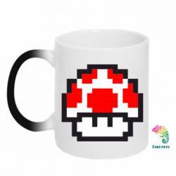 Кружка-хамелеон Гриб Марио в пикселях - FatLine