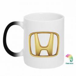Кружка-хамелеон Honda Gold Logo - FatLine