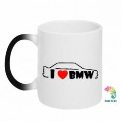 Кружка-хамелеон I love BMW - FatLine