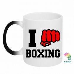 Кружка-хамелеон I love boxing - FatLine