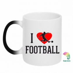 Кружка-хамелеон I love football - FatLine