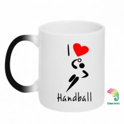 Кружка-хамелеон I love handball 2 - FatLine