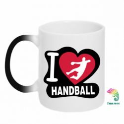 Кружка-хамелеон I love handball - FatLine