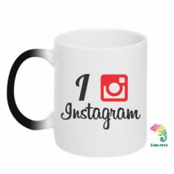 Кружка-хамелеон I love Instagram