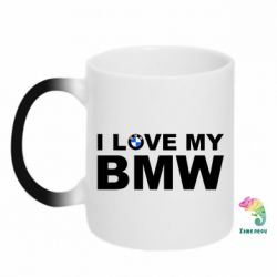 Кружка-хамелеон I love my BMW - FatLine