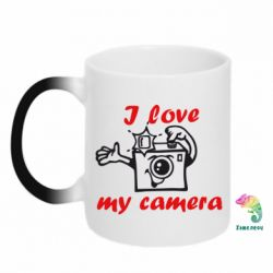 Кружка-хамелеон I love my camera - FatLine