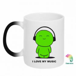 Кружка-хамелеон I love my music - FatLine