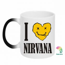 Кружка-хамелеон I love Nirvana - FatLine