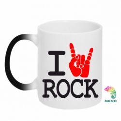 Кружка-хамелеон I love rock - FatLine