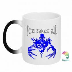 Кружка-хамелеон Ice takes all Dota - FatLine