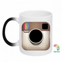 Кружка-хамелеон Instagram Logo - FatLine
