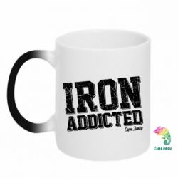 Кружка-хамелеон Iron Addicted