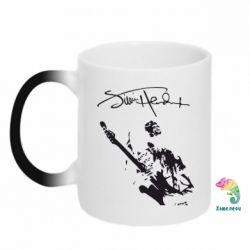 Кружка-хамелеон Jimi Hendrix афтограф - FatLine