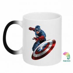 Кружка-хамелеон Капитан Америка - FatLine