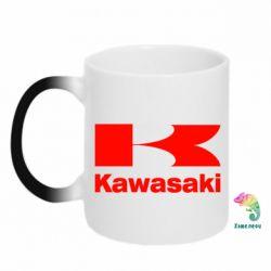 Кружка-хамелеон Kawasaki - FatLine