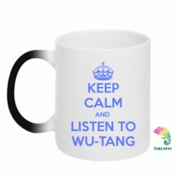 Кружка-хамелеон KEEP CALM and LISTEN to WU-TANG - FatLine