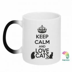 Кружка-хамелеон KEEP CALM and LOVE CATS - FatLine