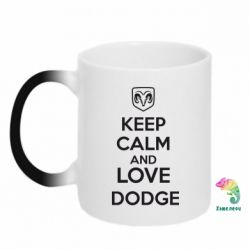 Кружка-хамелеон KEEP CALM AND LOVE DODGE - FatLine