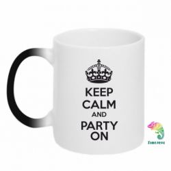 Кружка-хамелеон KEEP CALM and PARTY ON