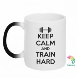 Кружка-хамелеон KEEP CALM and TRAIN HARD