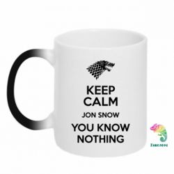 Кружка-хамелеон Keep Calm Jon Snow - FatLine