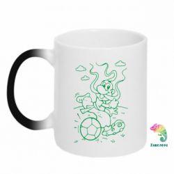 Кружка-хамелеон Козак з м'ячем - FatLine
