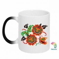 Кружка-хамелеон Квіти України