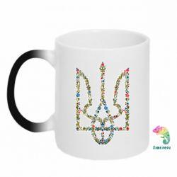 Кружка-хамелеон Квітучий герб України - FatLine